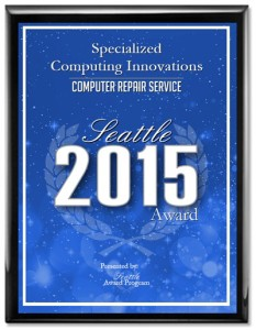Specialized Computing Innovations Receives 2015 Seattle Award